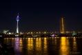 Fernsehturm und Rheinkniebrücke vom Mannesmannufer