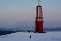 Die Halde Rheinpreußen war am heutigen Tag von einer geschlossenen Schneedecke überzogen.