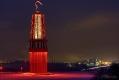 Das Geleucht und im Hintergrund ThyssenKrupp Steel