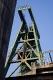 iDas von Fritz Schupp entworfene Doppelstrebengerüst über Schacht Lohberg 2 von 1955 ist mit einer Höhe von 70,5 m das höchste Fördergerüst im Ruhrbergbau.